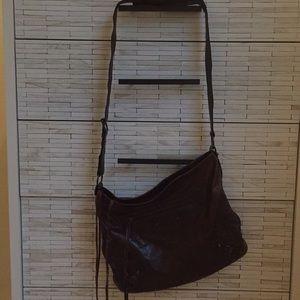 Balenciaga Leather Messenger Bag - Mogano